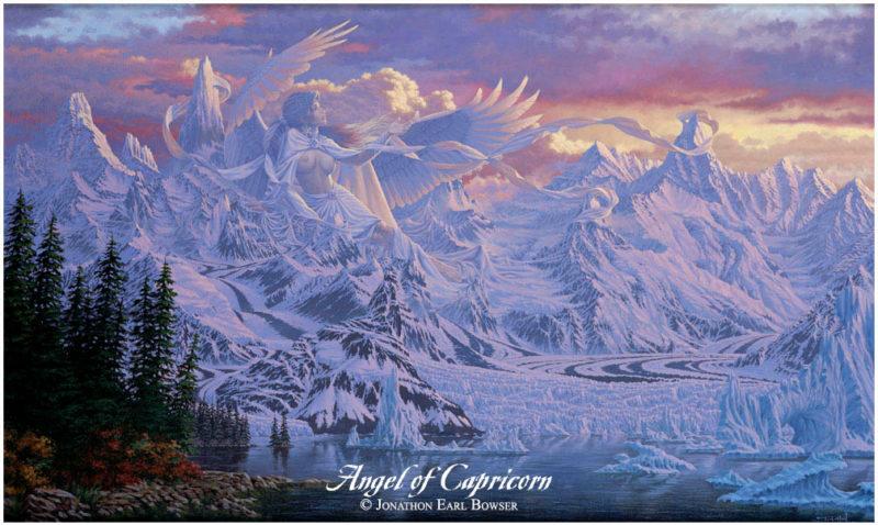 Angel-of-Capricorn-1999-by-Jonathon Earl Bowser Art ⓖ thegallerist.art