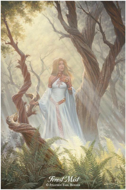 Forest-Mist-2004-by-Jonathon Earl Bowser Art ⓖ thegallerist.art