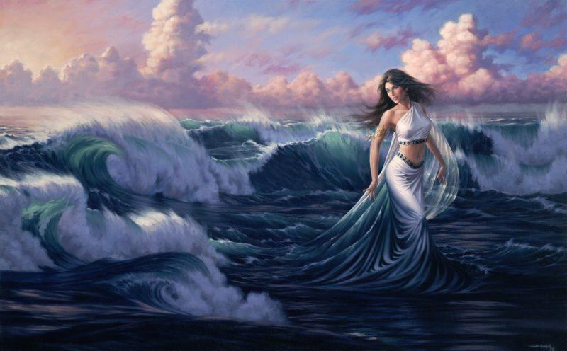 Goddess-of-The-Tides-1993-by-Jonathon Earl Bowser Art ⓖ thegallerist.art