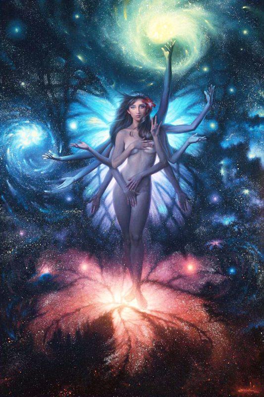 Lotus of the Eternal Night -Jonathon Earl Bowser Art ⓖ thegallerist.art