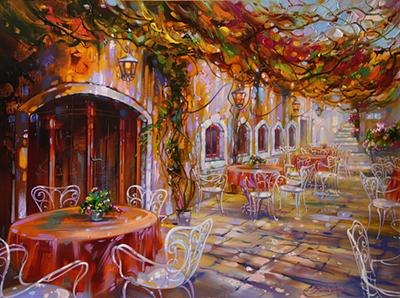 Zinoviy Sydoriv colorful paintings thegallerist.art