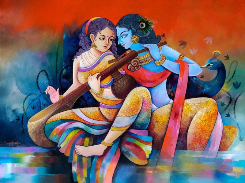 Sanjay Tandekar Acrylic Painting thegallerist.art
