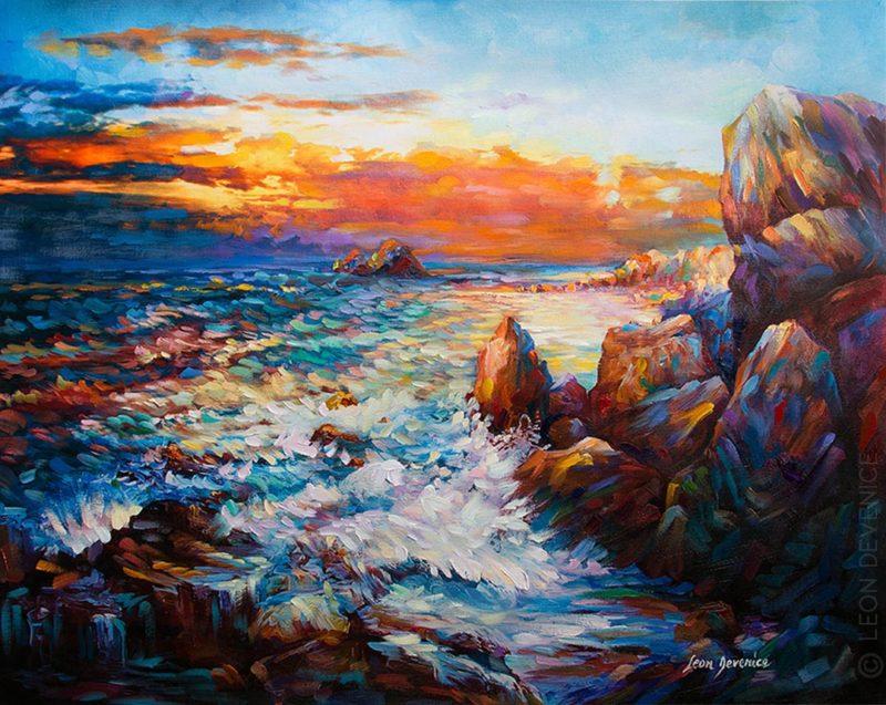 Leon Devenice Painting ⓖ thegallerist.art