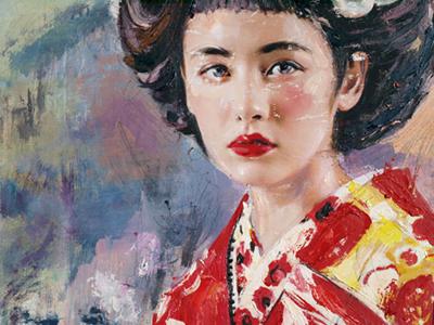 Catalin Ilinca Geisha painting