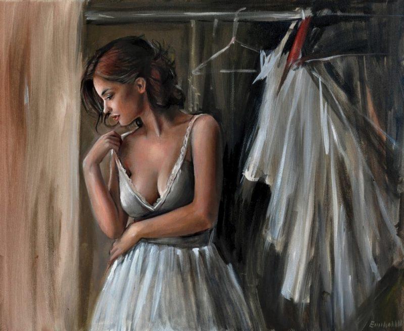 Emilia Wilk_Sensual Figurative painting_thegallerist.art
