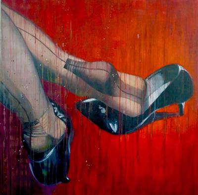 Pascale Taurua high heels painting