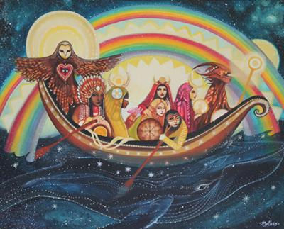 Tessa Mythos visionary painting