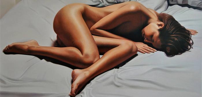 Valeri Tsvetkov Sensual Hyperrealistic painting