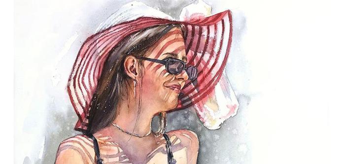 Anastasia Kustova watercolor painting