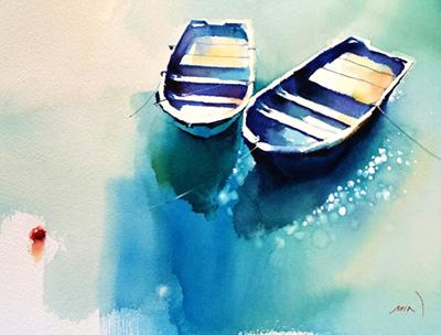 Min Kim painting