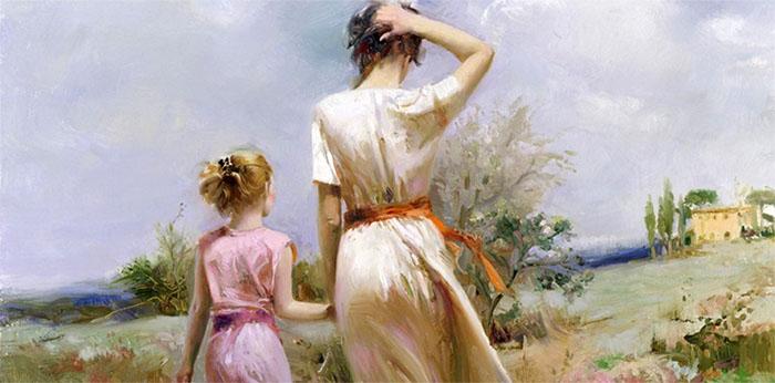 Pino Daeni painting