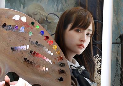 Yasutomo Oka Painting