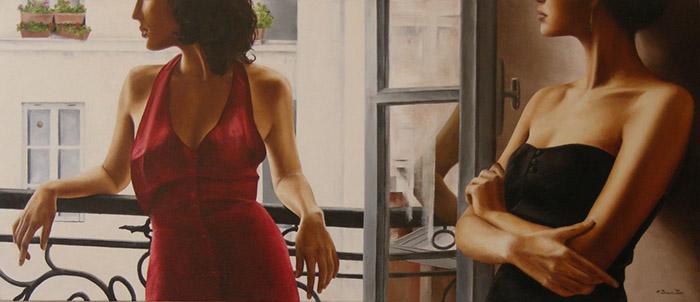 Annick Bouvattier painting