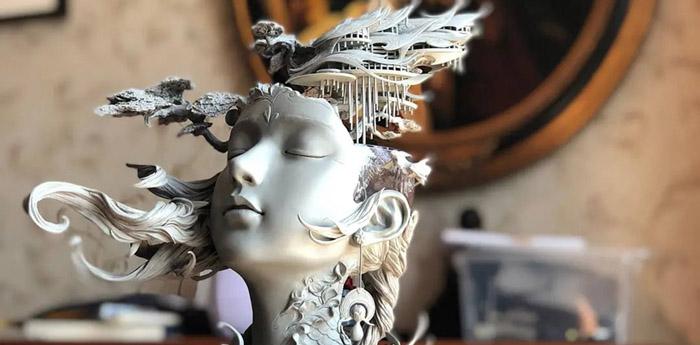 Yuanxing Liang sculpture