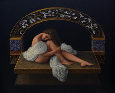 Ángel de Cáceres García painting
