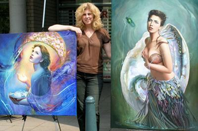 Christiane Vleugels painting
