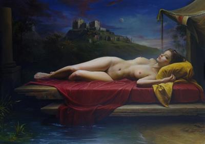 Claudio Sacchi painting