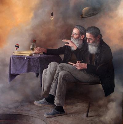 Hernan Javier Muñoz painting