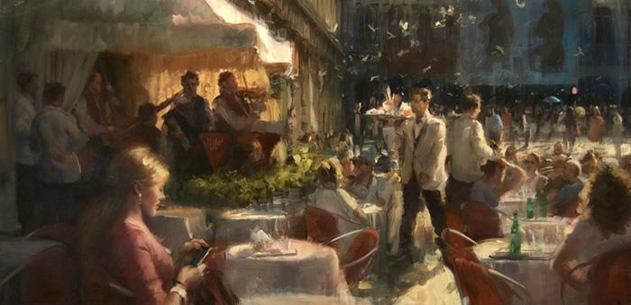 Simon Pasini painting