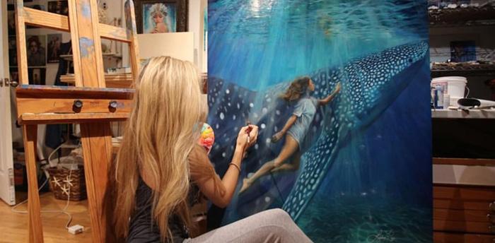 Lindsay Rapp painting