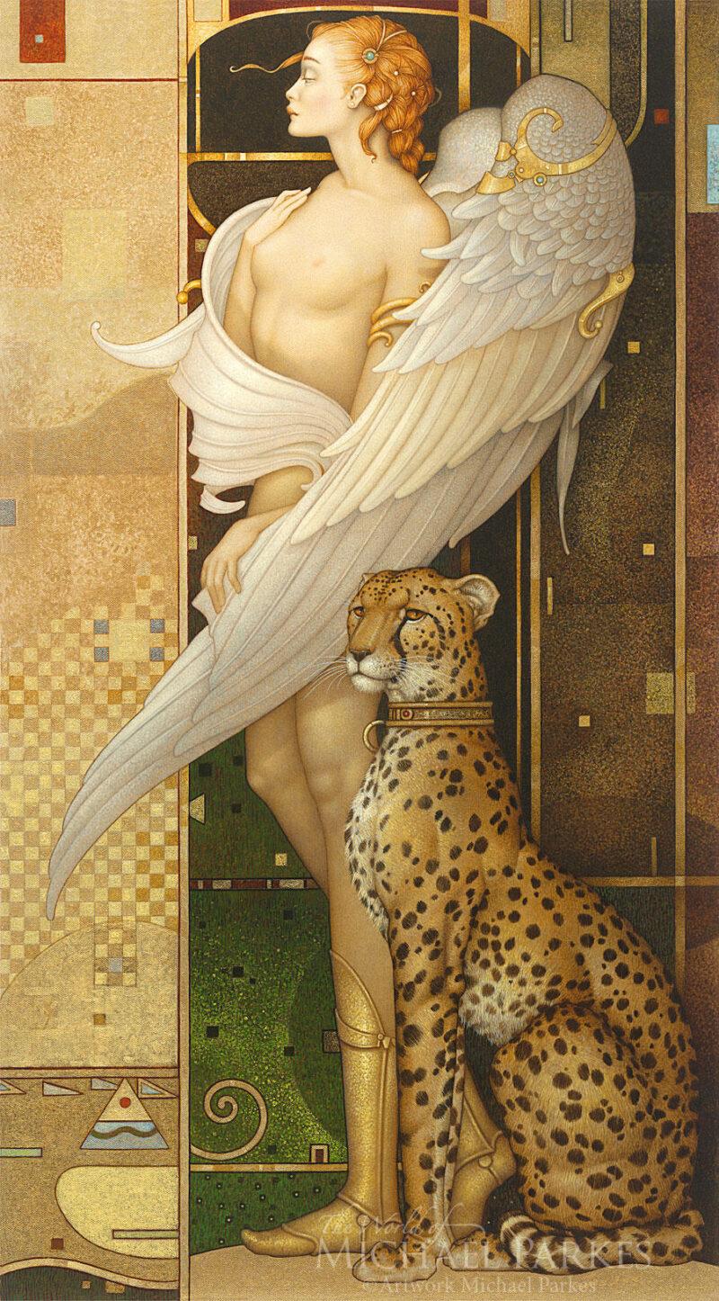 Michael Parkes Painting ⓖ thegallerist.art