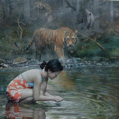 Santos Hu painting