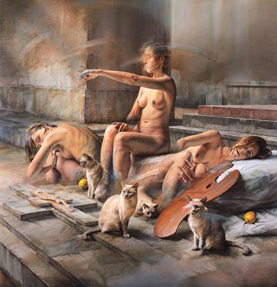 István Sándorfi painting