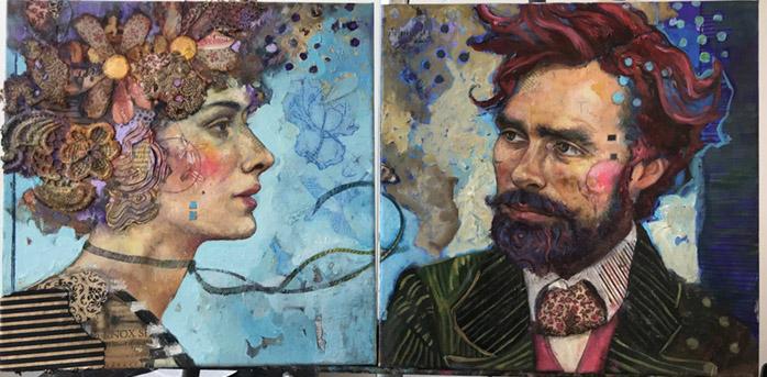 Juliette Belmonte painting