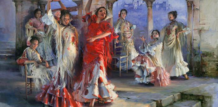 Ricardo Sanz painting