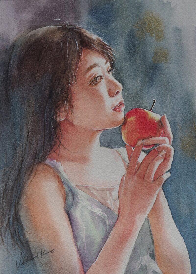 Akiko Tokuda Watercolor Painting @ TheGallerist.art