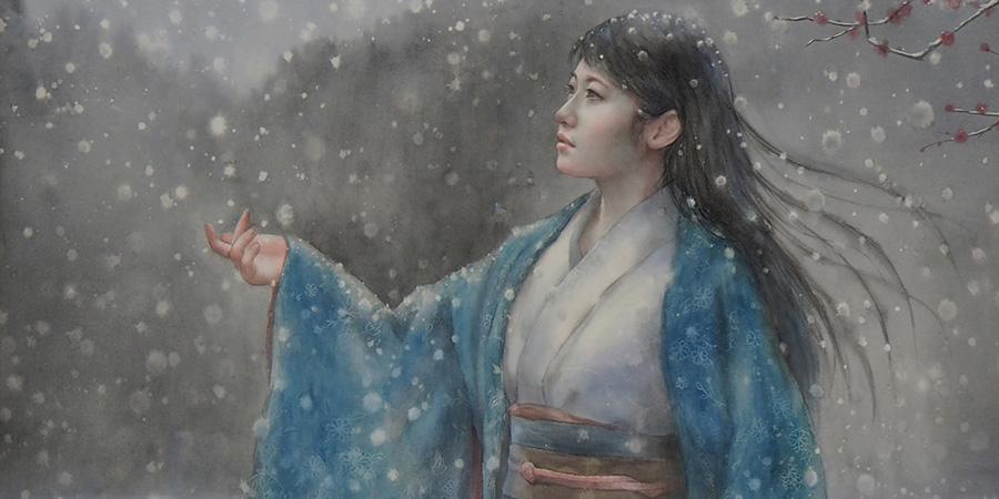 Akiko Tokuda watercolor painting