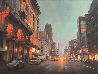 Gavin Glakas painting