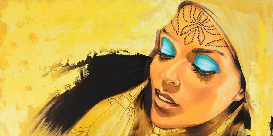 Galla Abdel Fattah painting