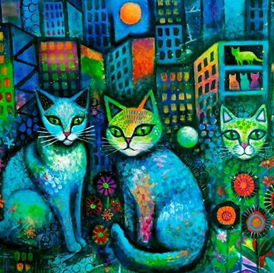 Karin Zeller painting