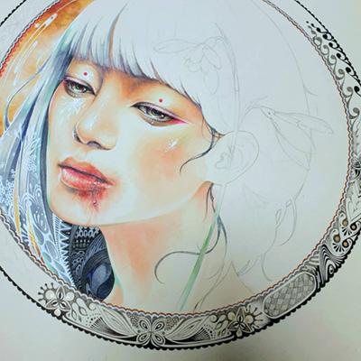 Minjae Lee painting