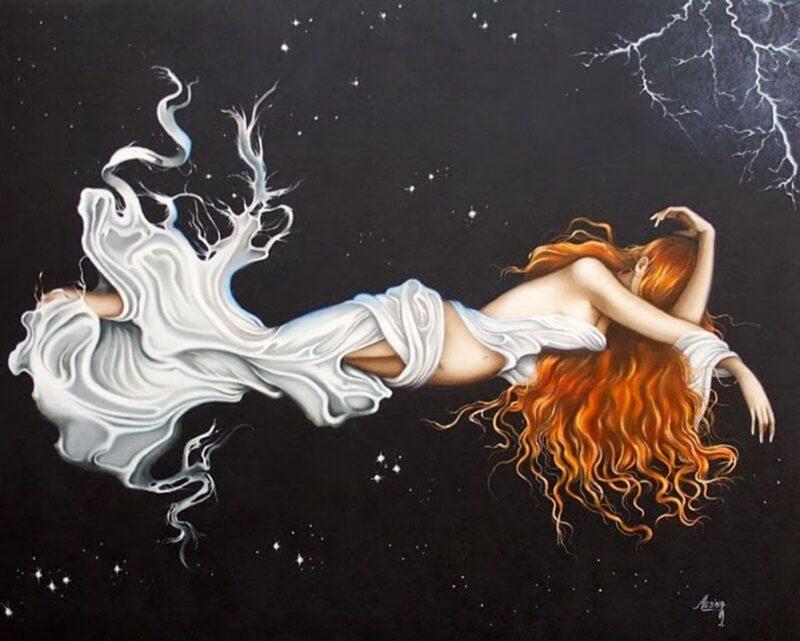 Evita Medina Painting @ TheGallerist.art