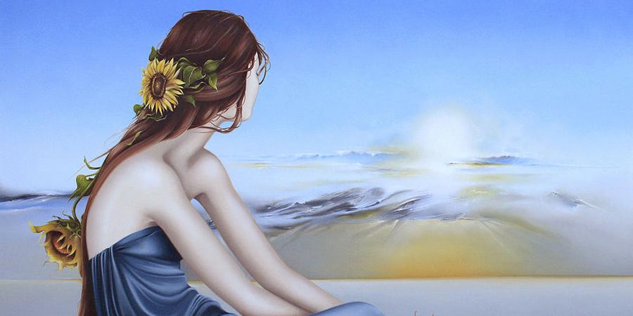 Evita Medina painting