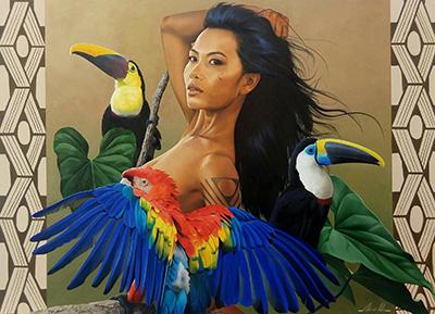 Petterson Silva painting