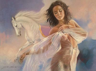 Román de Blas painting
