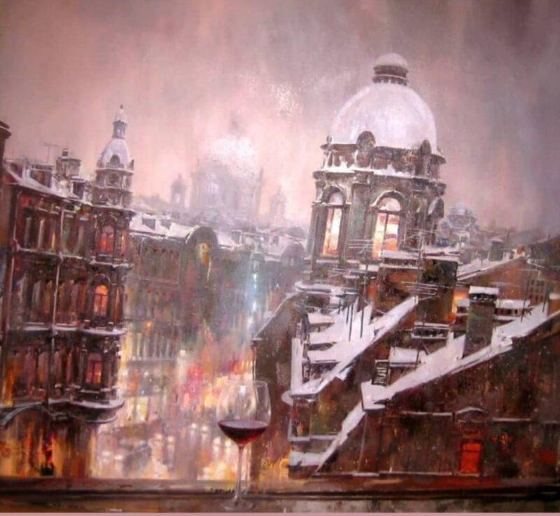Ivan Slavinsky painting @ TheGallerist.art