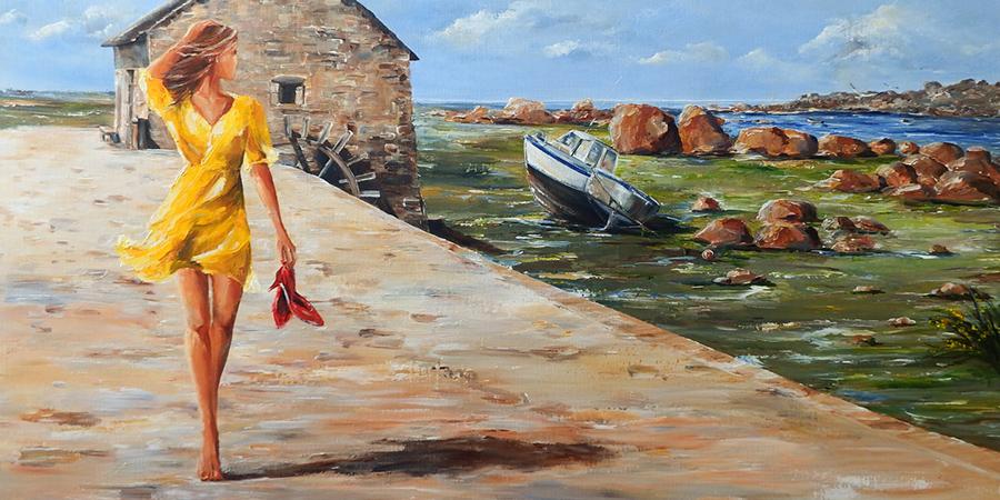 Marie-Laure Souq painting