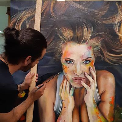 Pedro Albuquerque painting