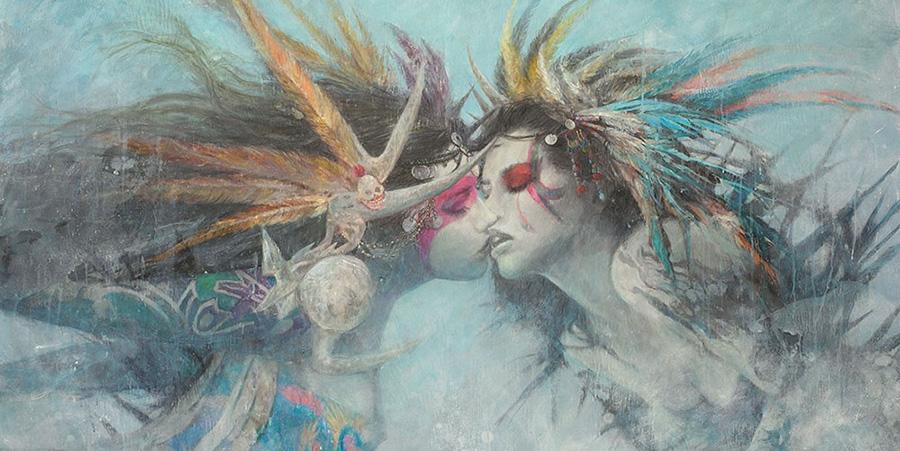 Romulo Royo painting