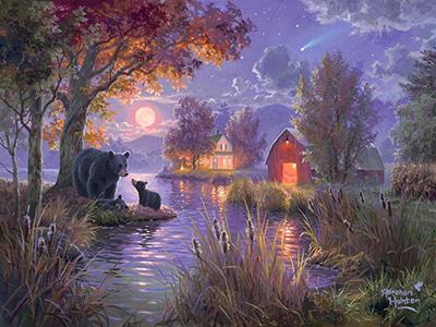 Abraham Hunter painting